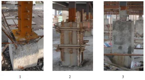 外包式加层柱脚节点施工流程